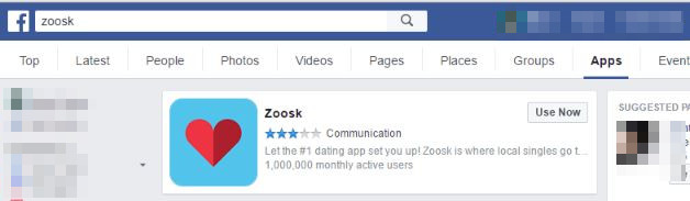 Facebook Zoosk Dating App