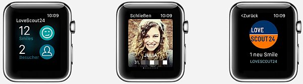 LoveScout 24 App für iWatch