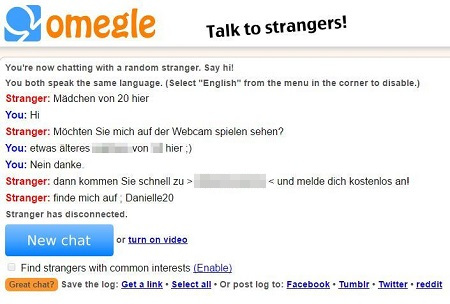 Omegle Chat mit Webcam Girl