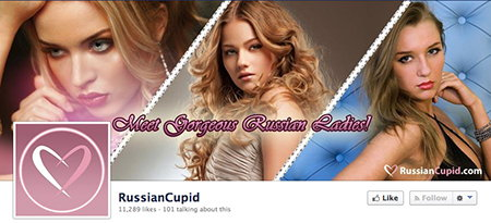 RussianCupid auf Facebook