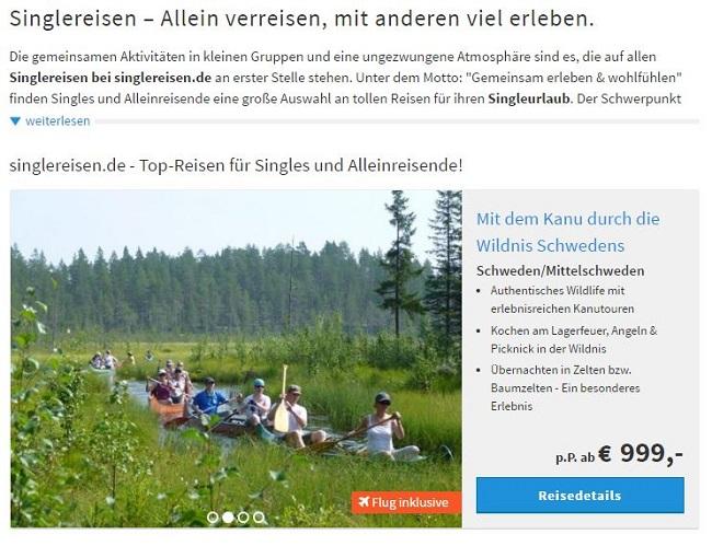 Urlaub in der Gruppe bei Singlereisen.de