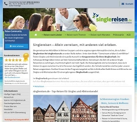 Singlereisen.de screenshot